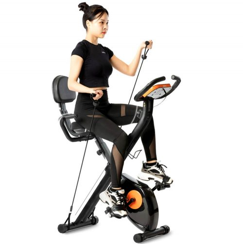 Tiptiper Folding Magnetic Upright Recumbent Stationary Bike with Backrest and Resistance Bands Review