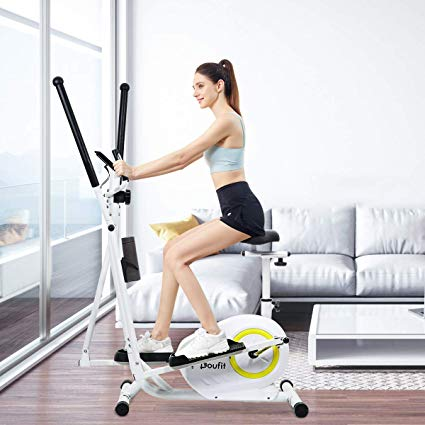 DOUFIT PORTABLE ELLIPTICAL TRAINER WITH MAGNETIC RESISTANCE, EM-01 AND EM-02