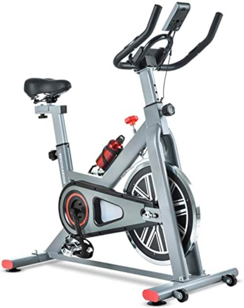 TECHMOO Magnetic Belt Drive Indoor Spin Exercise Bike Review